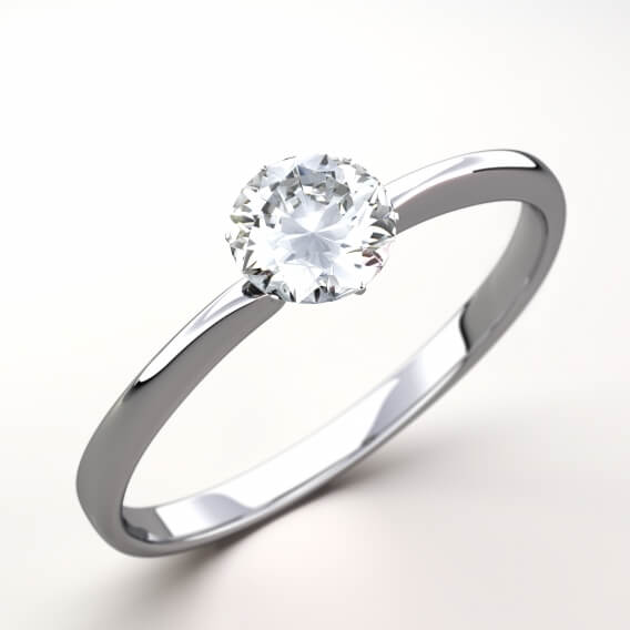 טבעת יהלומים קלאסית סוליטר סנדרה SD109