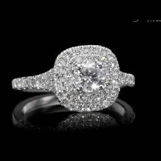 טבעות יהלום יוקרתית בשילוב זהב לבן 1.07 קראט - סלנה