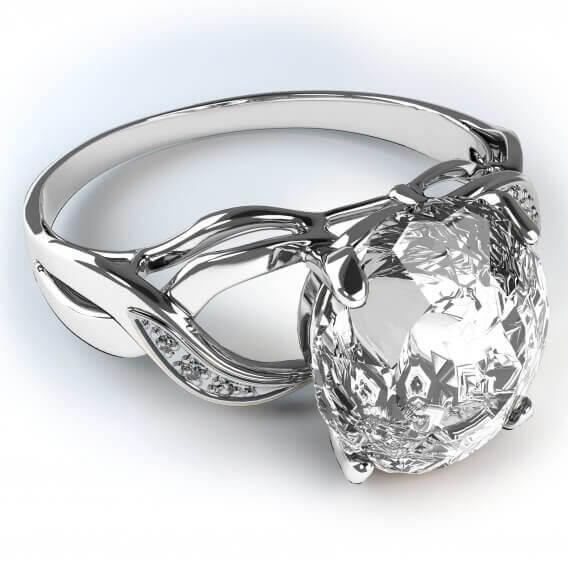 טבעות יהלומים יוקרתית בשילוב זהב לבן 1.58 קראט - יוליאנוס