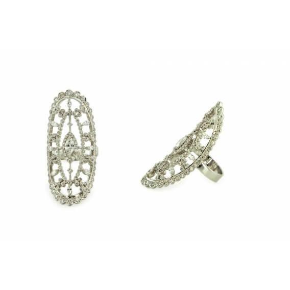 טבעות מעוצבת זהב לבן בשיבוץ יהלומים 1.17 קראט מורן