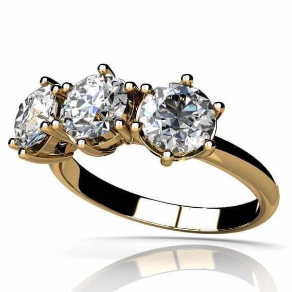 טבעת אירוסין וינטאג' מפוארת ארבלה זהב זהוב 1.21 קראט