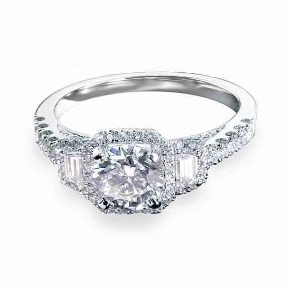 טבעת אירוסין וינטאג' מפוארת 0.87 קראט - מיילי