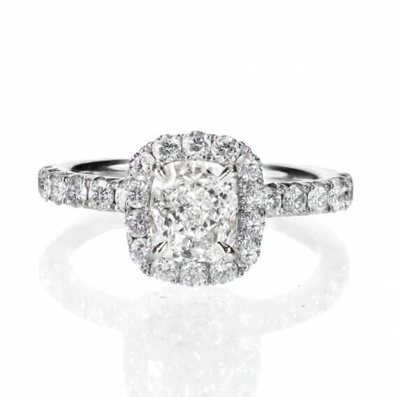 טבעת אירוסין יוקרתית בשילוב זהב לבן 0.68 קראט -קייט