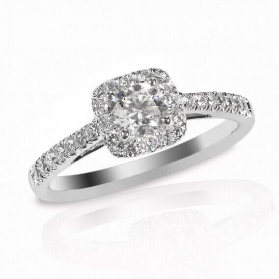 טבעת אירוסין יוקרתית בשילוב זהב לבן 1.13 קראט - ג'וסלין