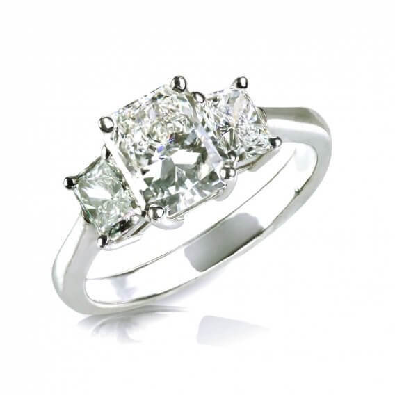 טבעת אירוסין יוקרתית זהב לבן 0.39 קראט - מרתה