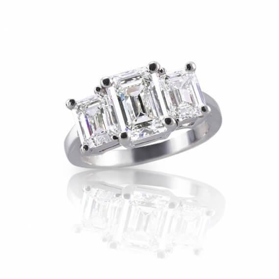 טבעת אירוסין יוקרתית זהב לבן 0.95 קראט - אליסון
