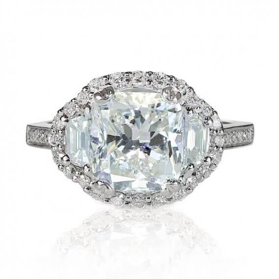 טבעת אירוסין יוקרתית זהב לבן 0.98 קראט - אלי