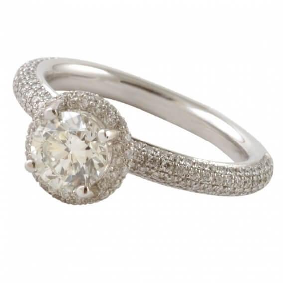 טבעת אירוסין יוקרתית זהב לבן - נורי