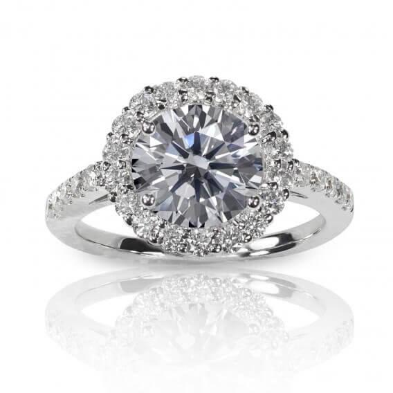 טבעת אירוסין יוקרתית וקלאסית 1.21 קראט פלורנס 81 SD