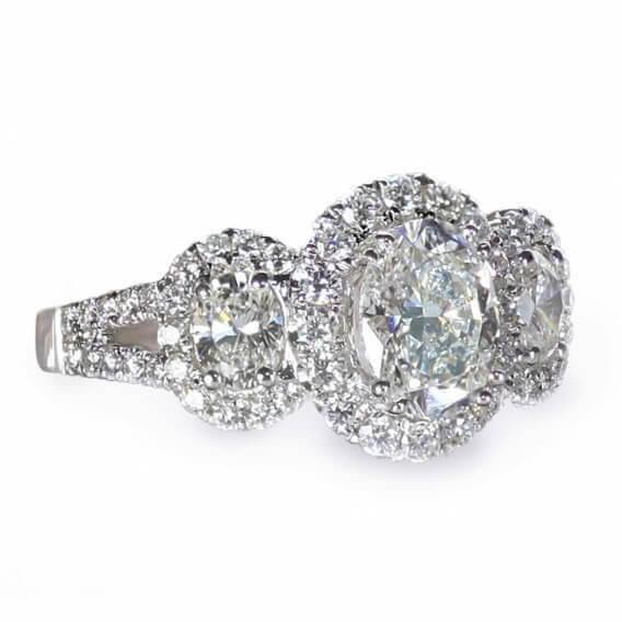 טבעת אירוסין יוקרתית 1.22 קראט - קים