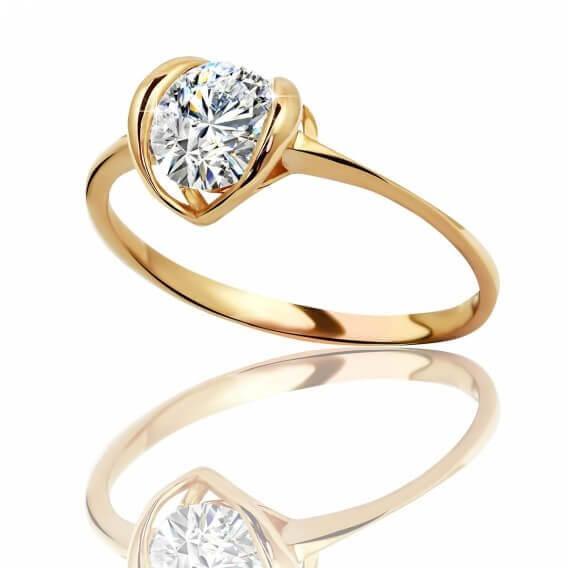 טבעת אירוסין סוליטר זהב צהוב סאמר