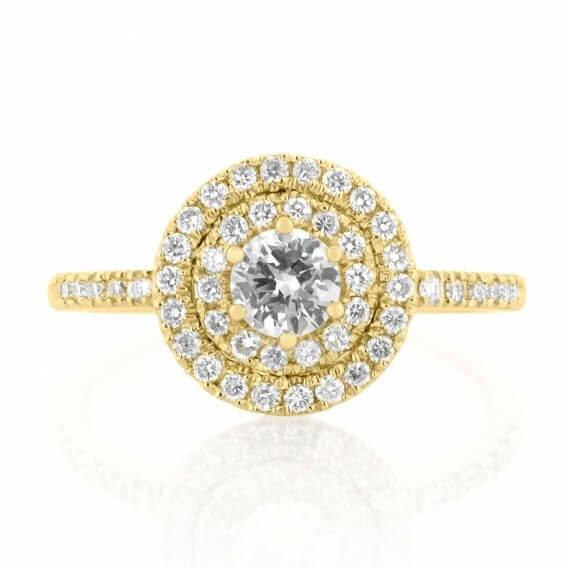 טבעת אירוסין עדינה זהב צהוב אינפיניטי 0.86 קראט