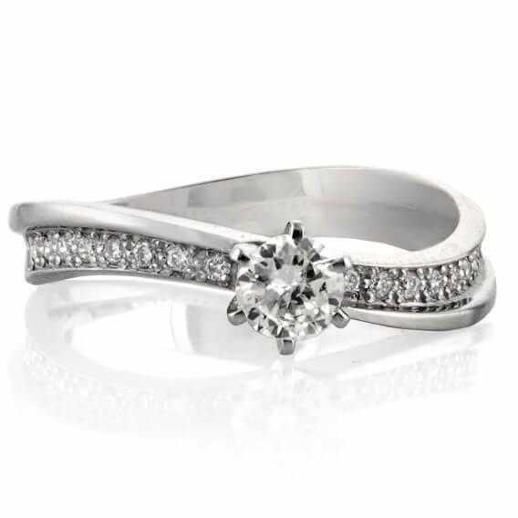 טבעת אירוסין קלאסית בעיצוב מיוחד דגם SD-235