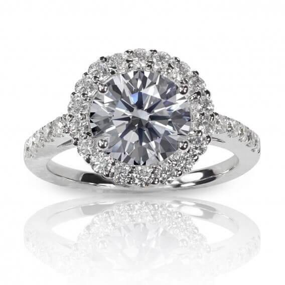 טבעת אירוסין קלאסית זהב לבן 1.32 קראט ורדון