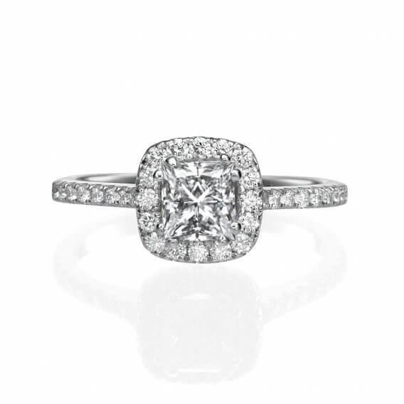 טבעת וינטאג' בשילוב יהלום יוקרתי 0.96 קראט - פאבריס