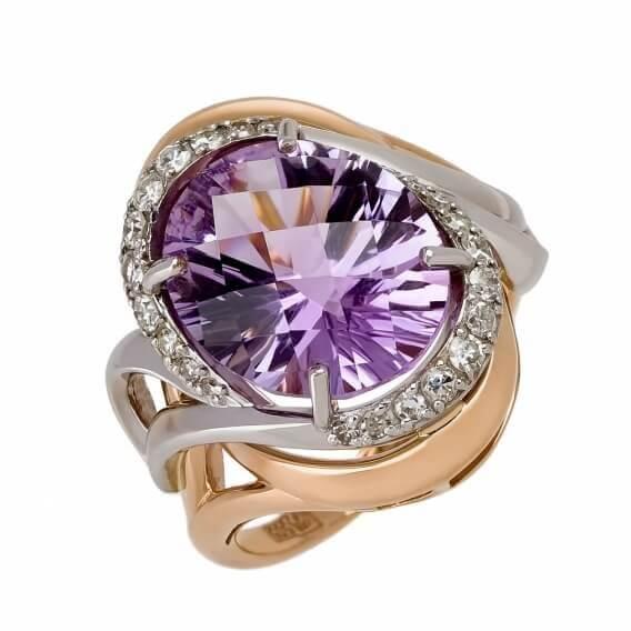 טבעת  וינטאג' יהלומים עם אבן חן מרכזי 1.22 קראט - בלה