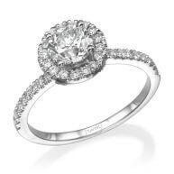 טבעת וינטאג' יוקרתית בשיבוץ יהלומים וזהב ורונה