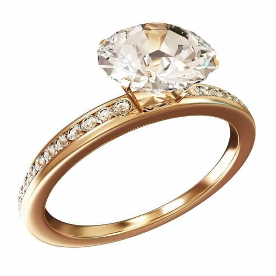 טבעת וינטאג' יוקרתית זהב לבן 1.46 קראט - משי
