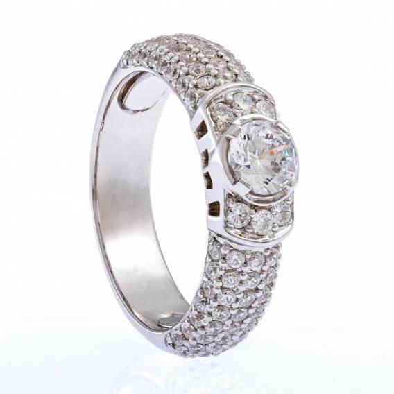 טבעת וינטאג' יוקרתית 1.24 קראט - קנדיס
