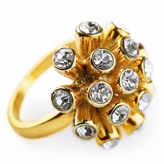 טבעת אירוסין וינטאג' מפוארת בעיצוב מיוחד זהב צהוב