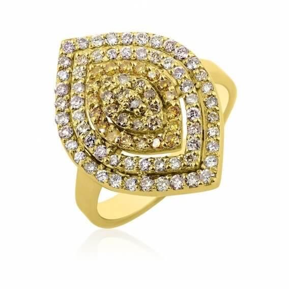 טבעת אירוסין וינטאג' נמרוס 1.23 קראט
