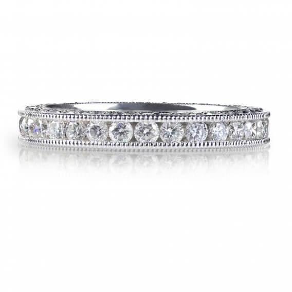 טבעת זהב בשיבוץ יהלומים זהב לבן 0.22 קראט -שיינה