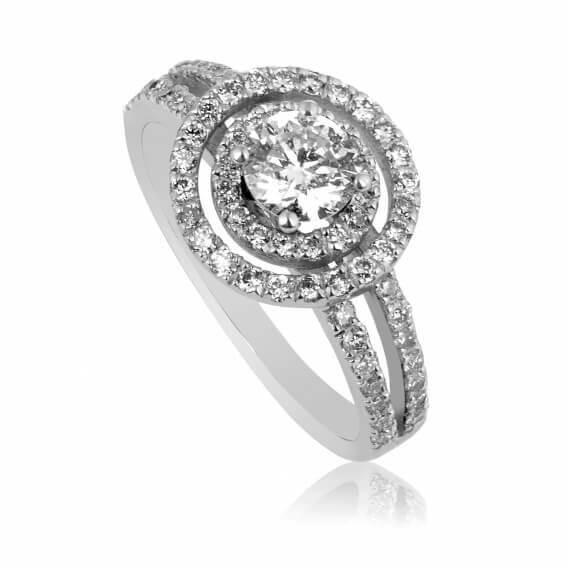 טבעת זהב ויהלומים יוקרתית 1.17 קראט - אלה
