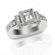 טבעת זהב יוקרתית בשיבוץ יהלומים מרקוס 0.87 קראט