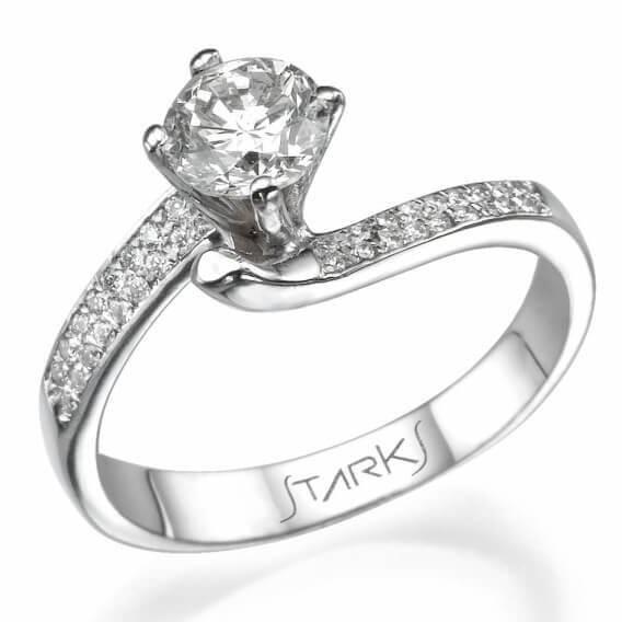טבעת יהלום יוקרתית 81 נקודות - אדיסון