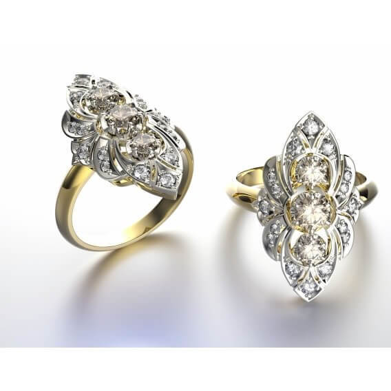 טבעת יהלום יוקרתית בעיצוב מיוחד 2.54 קראט - אוגוסטוס