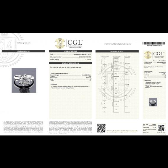 טבעת יהלום יוקרתית זהב לבן 3.72 קראט - אפרודיטה