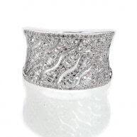 טבעת יהלום יוקרתית מעוטרת זהב לבן אנטונינוס 3.22 קראט