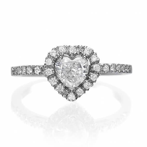 טבעת יהלום מעוצבת בצורת לב SD 283