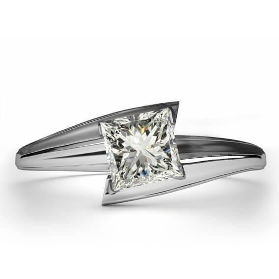 טבעת יהלום סוליטר בעיצוב מיוחד 75 נקודות שירלי