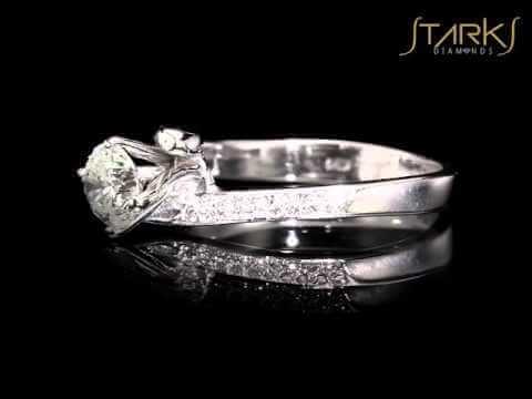 טבעת יהלום קלאסית בשילוב זהב צהוב אדיסון