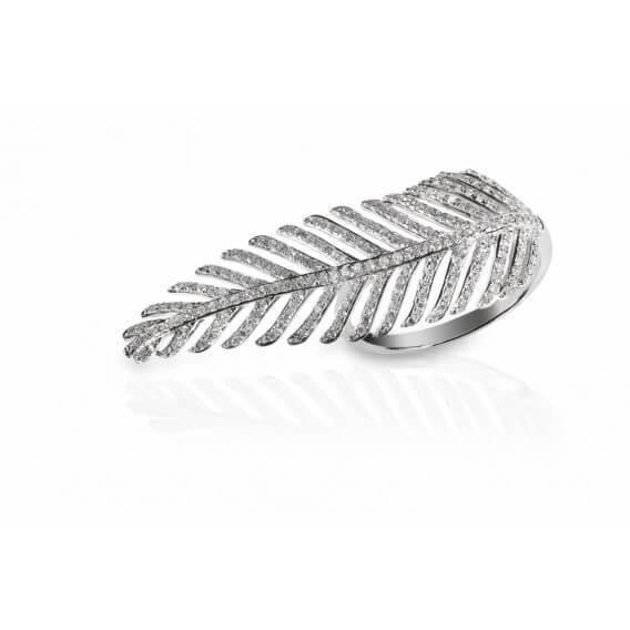 טבעת יהלומים בעיצוב נוצת הזהב 1.96 קראט