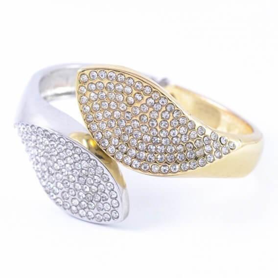 טבעת יהלומים וינטאג' בשילוב זהב לבן וצהוב