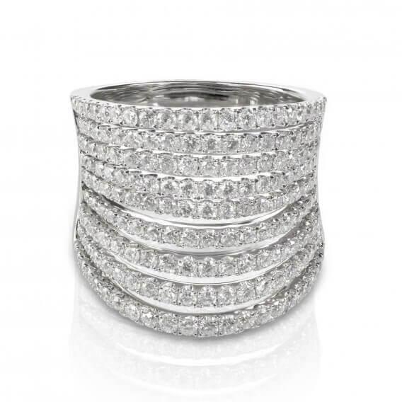 טבעת יהלומים וינטאג' זהב לבן דונטלה 1.82 קראט