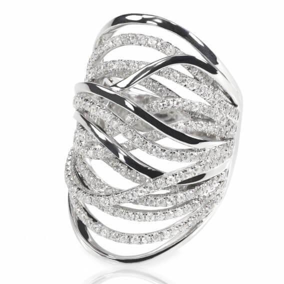 טבעת אירוסין יהלומים וינטאג' זהב לבן נחלים 2.02 קראט
