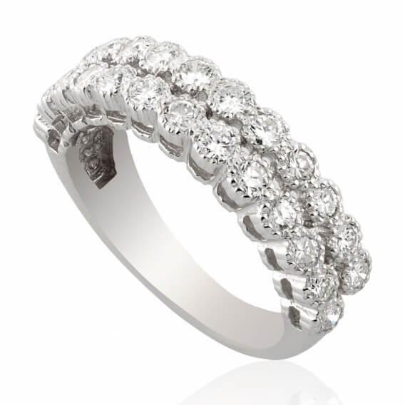 טבעת יהלומים וינטאג' זהב לבן  1.04 קראט לורי SD 221