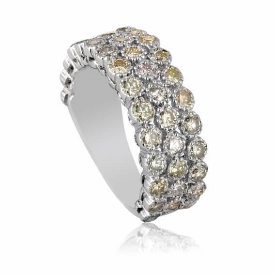 טבעת יהלומים זהב צהוב 2.25 קראט דיאן