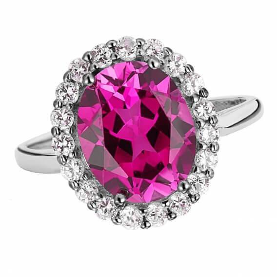 טבעת יהלומים יוקרתית בשילוב אבן חן 1.22 קראט