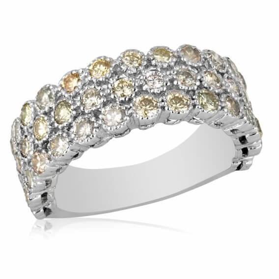 טבעת יהלומים יוקרתית בשילוב זהב לבן דיאן 2.25 קראט