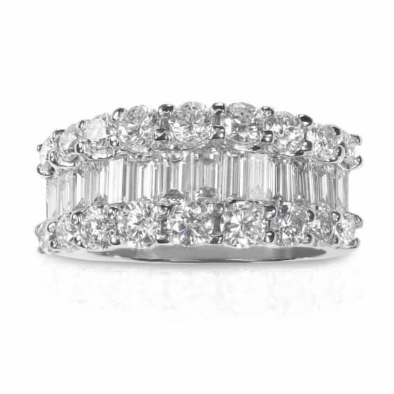 טבעת יהלומים יוקרתית בשילוב זהב לבן 1.72 קראט אורליוס