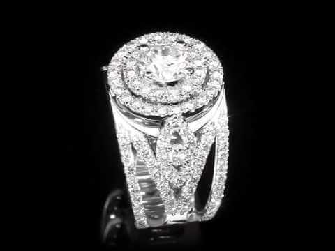 טבעת יהלומים יוקרתית מעוטרת זהב לבן ארין
