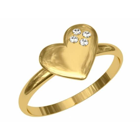 טבעת יהלומים יוקרתית מעוטרת זהב צהוב 16 נקודות - אורין