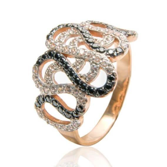 טבעת יהלומים יוקרתית מעוטרת זהב צהוב 97 יהלומים 0.97 קראט - ג'יין