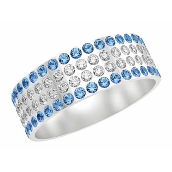 טבעת יהלומים כחול לבן 96 נקודות ישראל