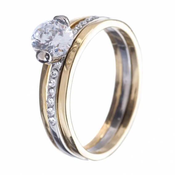 טבעת יהלומים מעוטרת זהב בעיצוב מיוחד 0.42 קראט - אדריאן