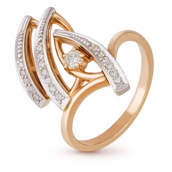 טבעת יהלומים מעוטרת זהב בעיצוב מיוחד 0.92 קראט - קימברלי